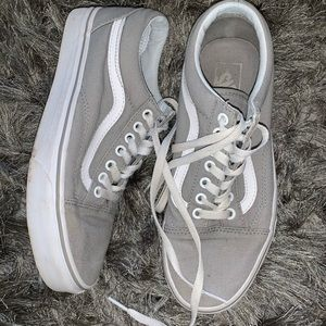 gray old skool vans